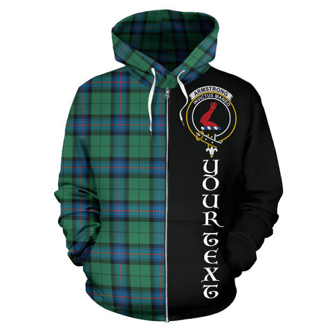(Custom your text) Armstrong Ancient Tartan Hoodie Half Of Me TH8