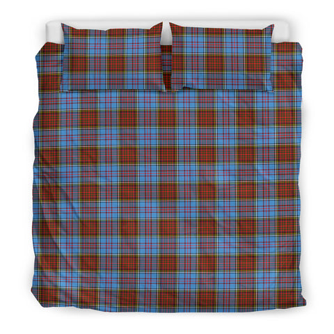 Image of Anderson Modern tartan bedding, Anderson Modern tartan duvet covers, Anderson Modern plaid king bed, bedding sets queen, twin bedding sets