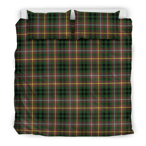 Image of Buchanan Hunting tartan bedding, Buchanan Hunting tartan duvet covers, Buchanan Hunting plaid king bed, bedding sets queen, twin bedding sets