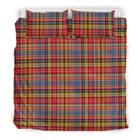 Image of Drummond of Strathallan tartan bedding, Drummond of Strathallan tartan duvet covers, Drummond of Strathallan plaid king bed, bedding sets queen, twin bedding sets
