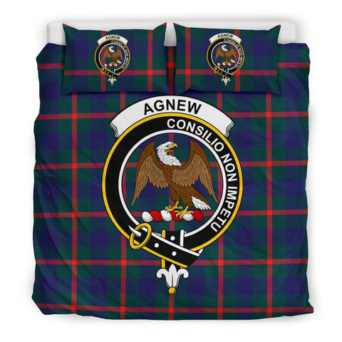 Agnew Tartan Bedding Set - Clan Badge K7
