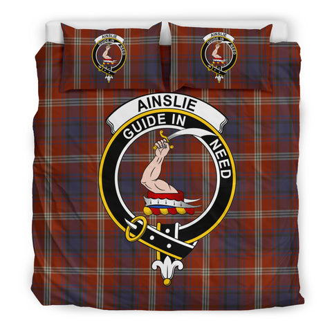Ainslie Tartan Bedding Set - Clan Badge K7