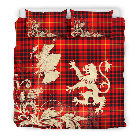 Image of MacIan Tartan Scotland Lion Thistle Map Bedding Set HJ4