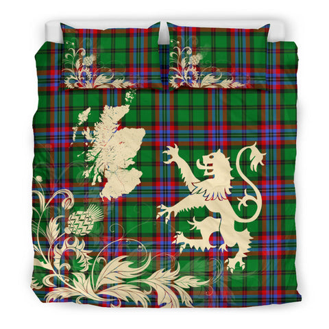 McGeachie Tartan Scotland Lion Thistle Map Bedding Set HJ4
