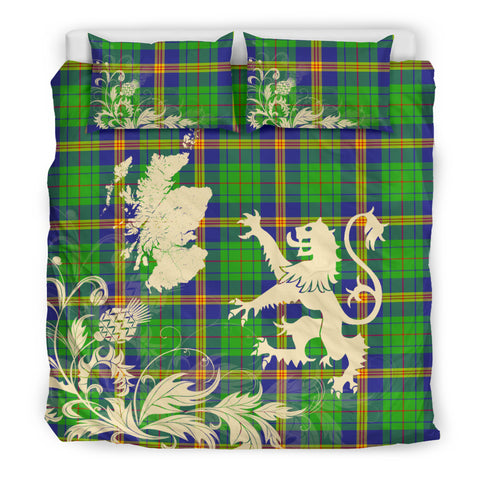 New Mexico Tartan Scotland Lion Thistle Map Bedding Set HJ4