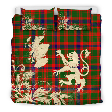 Nithsdale District Tartan Scotland Lion Thistle Map Bedding Set HJ4