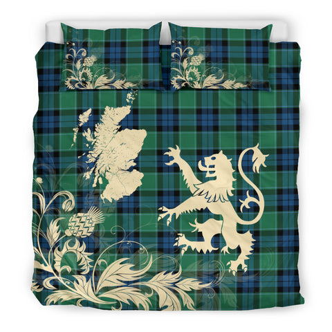 Graham of Menteith Ancient Tartan Scotland Lion Thistle Map Bedding Set HJ4