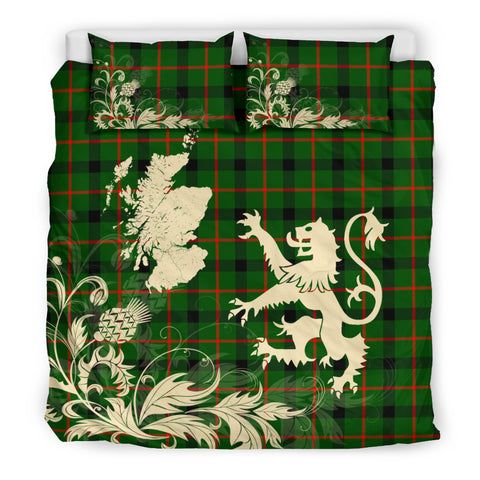 Kincaid Modern Tartan Scotland Lion Thistle Map Bedding Set HJ4