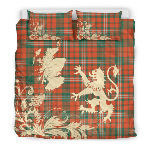 SCOTT ANCIENT Tartan Scotland Lion Thistle Map Bedding Set HJ4
