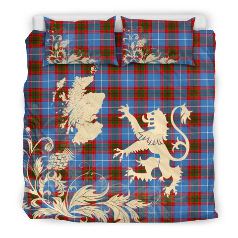 Pennycook Tartan Scotland Lion Thistle Map Bedding Set HJ4