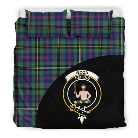 Wood Modern Tartan Clan Badge Bedding Set Wave Style