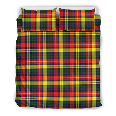 Image of Buchanan Modern tartan bedding, Buchanan Modern tartan duvet covers, Buchanan Modern plaid king bed, bedding sets queen, twin bedding sets