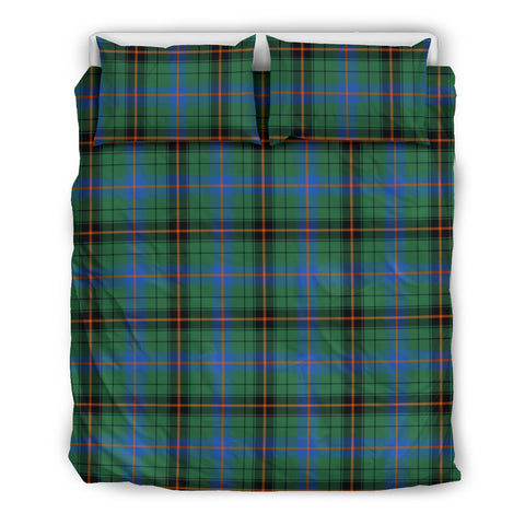 Image of Davidson Ancient tartan bedding, Davidson Ancient tartan duvet covers, Davidson Ancient plaid king bed, bedding sets queen, twin bedding sets