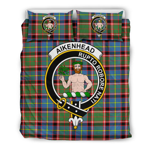 Aikenhead Tartan Bedding Set - Clan Badge K7