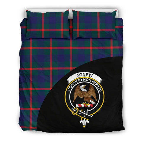 Agnew Modern Tartan Clan Badge Bedding Set Wave Style