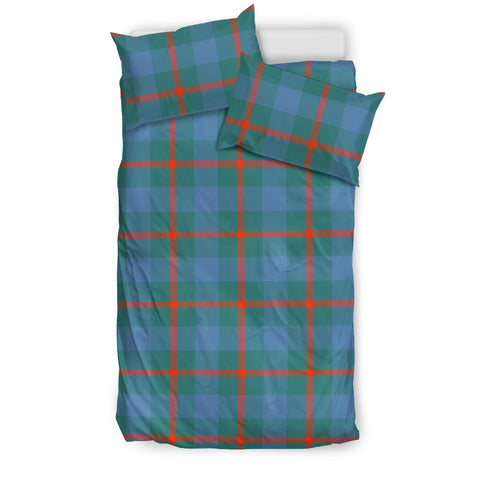 Image of Agnew Ancient tartan bedding, Agnew Ancient tartan duvet covers, Agnew Ancient plaid king bed, bedding sets queen, twin bedding sets
