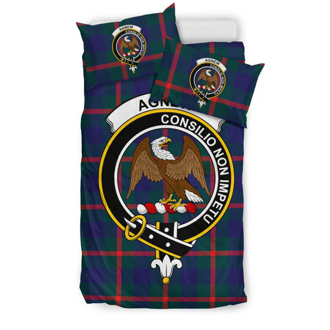 Agnew Tartan Bedding Set - Clan Badge