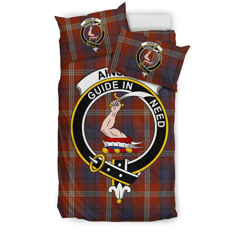 Ainslie Tartan Bedding Set - Clan Badge