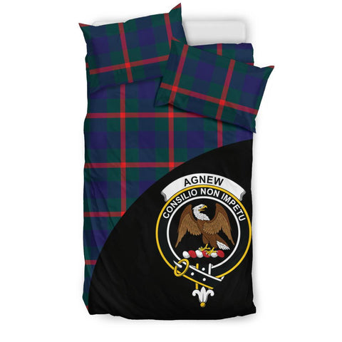 Agnew Modern Tartan Clan Badge Bedding Set Wave Style TH8