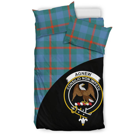 Agnew Ancient Tartan Clan Badge Bedding Set Wave Style TH8