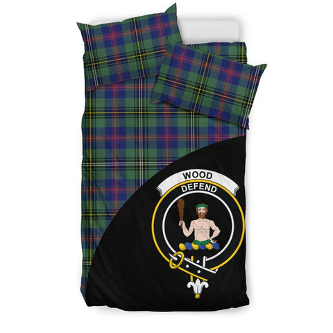 Wood Modern Tartan Clan Badge Bedding Set Wave Style TH8