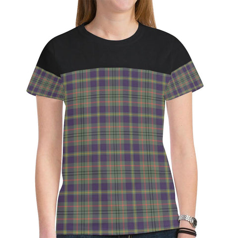 Tartan Horizontal T-shirt - Taylor Weathered | Tartan Clothing | Over 500 Tartans and 300 Clans