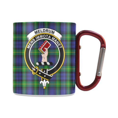 Image of Meldrum Tartan Mug Classic Insulated - Clan Badge | scottishclans.co