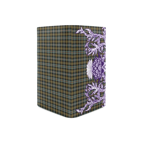 Farquharson Weathered Tartan Wallet Women's Leather Thistle A91