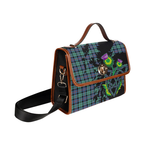 MacTaggart Ancient Tartan Map & Thistle Waterproof Canvas Handbag| Hot Sale