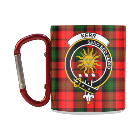 Kerr Modern Tartan Mug Classic Insulated - Clan Badge K7