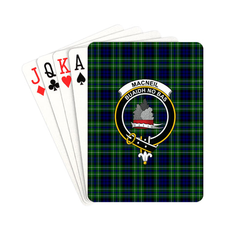 MacNeil of Colonsay Modern Tartan Clan Badge Playing Card | scottishclans.co