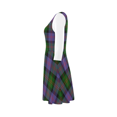 Image of Blair Modern Tartan 3/4 Sleeve Sundress | Exclusive Over 500 Clans