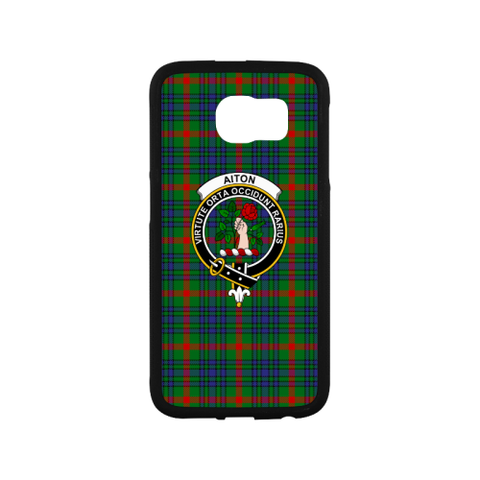Aiton Tartan Clan Badge Rubber Phone Case TH8