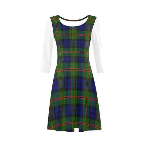 Dundas Modern 02 Tartan 3/4 Sleeve Sundress | Exclusive Over 500 Clans