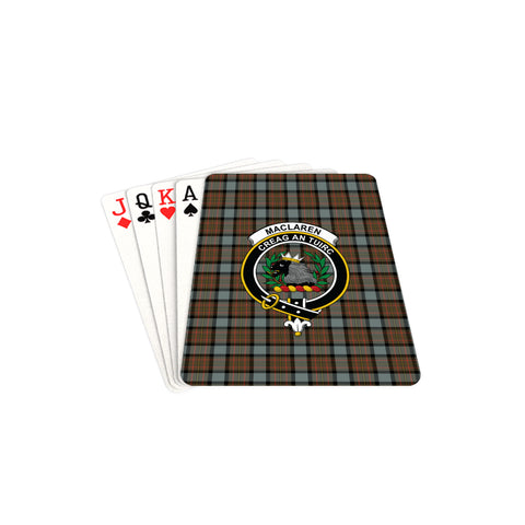 MacLaren Weathered Tartan Clan Badge Playing Card TH8