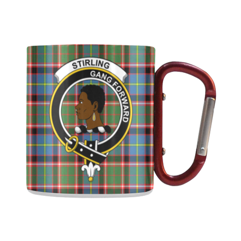 Image of Stirling (Of Keir) Tartan Mug Classic Insulated - Clan Badge | scottishclans.co