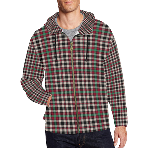 Image of Borthwick Dress Ancient Tartan Zipped Hoodie | Special Custom Products