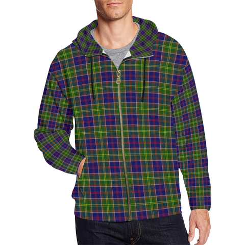 Ayrshire District Tartan Zipped Hoodie | Special Custom Products