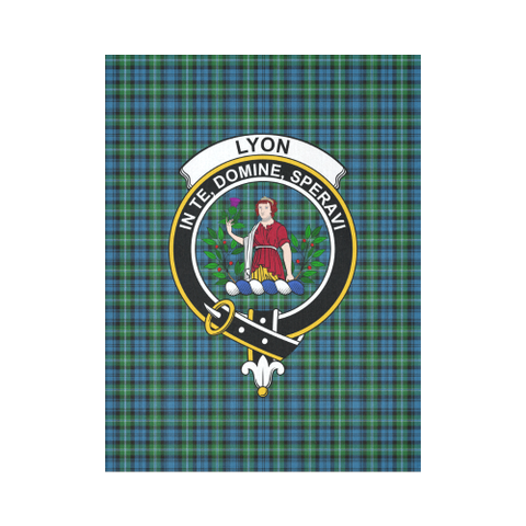 Lyon Clan Tartan Tapestry Clan Badge K7