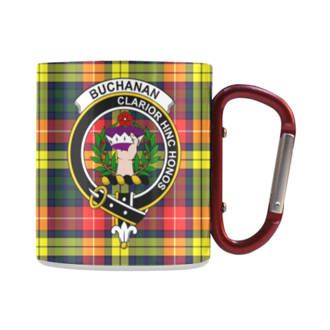 Image of Buchanan Modern  Tartan Mug Classic Insulated - Clan Badge | scottishclans.co
