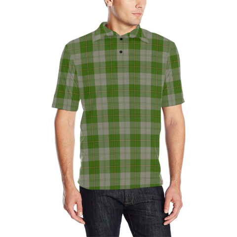 Cunningham Dress Green Dancers  Tartan Polo Shirt