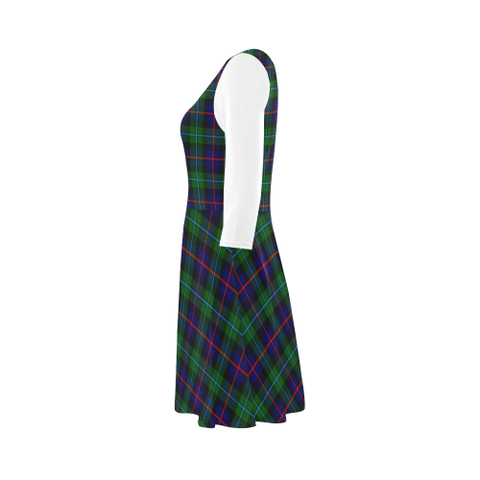 Campbell of Cawdor Modern Tartan 3/4 Sleeve Sundress | Exclusive Over 500 Clans