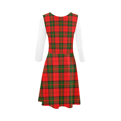 Dunbar Modern Tartan 3/4 Sleeve Sundress | Exclusive Over 500 Clans