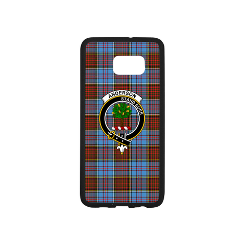 Image of Anderson Tartan Clan Badge Luminous Phone Case Samsung Galaxy S7
