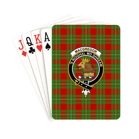 MacGregor Modern Tartan Clan Badge Playing Card | scottishclans.co