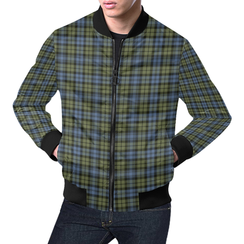 Image of Campbell Faded Tartan Bomber Jacket | Scottish Jacket | Scotland Clothing