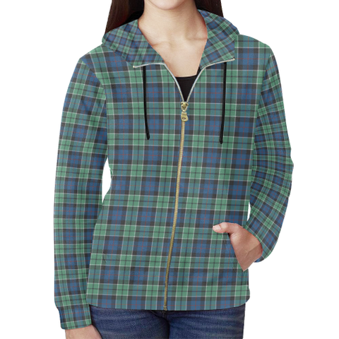 Leslie Hunting Ancient Tartan Zipped Hoodie | Special Custom Products