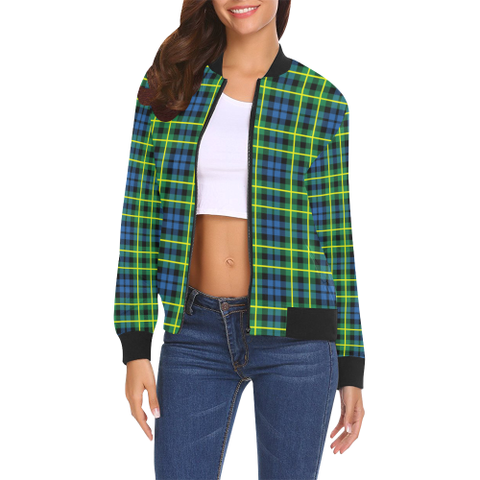 Image of Campbell of Breadalbane Ancient Tartan Bomber Jacket | Scottish Jacket | Scotland Clothing