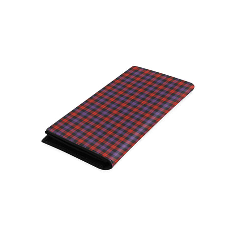 Brown Modern Tartan Wallet Women's Leather Thistle A91