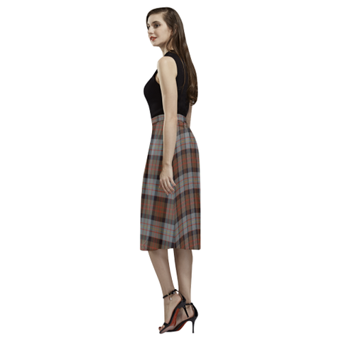 Image of Cameron of Erracht Weathered Tartan Aoede Crepe Skirt | Exclusive Over 500 Tartan